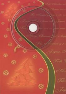 Weihnachtskarte mit Lovesongs (rot)