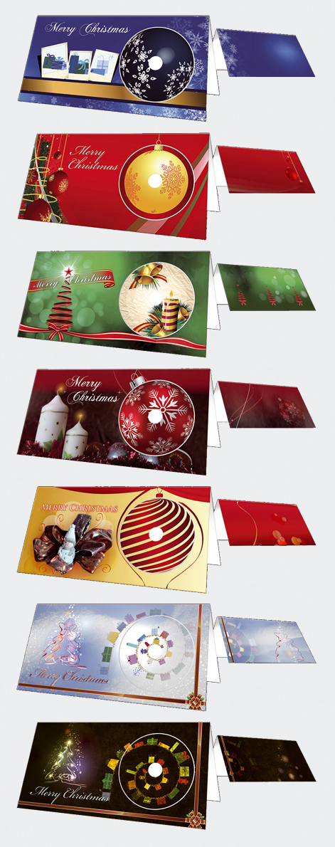 Weihnachtsklappkarten mit CD