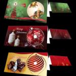 verschiedene Grusskarten zu Weihnachten